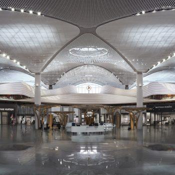 طولانی ترین دیوار پارامتریک جهان در فرودگاه استانبول