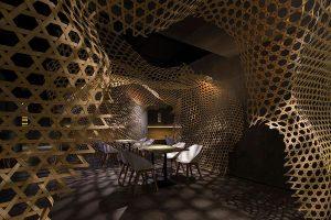 معماری پارامتریک در طراحی داخلی رستورانی در چین