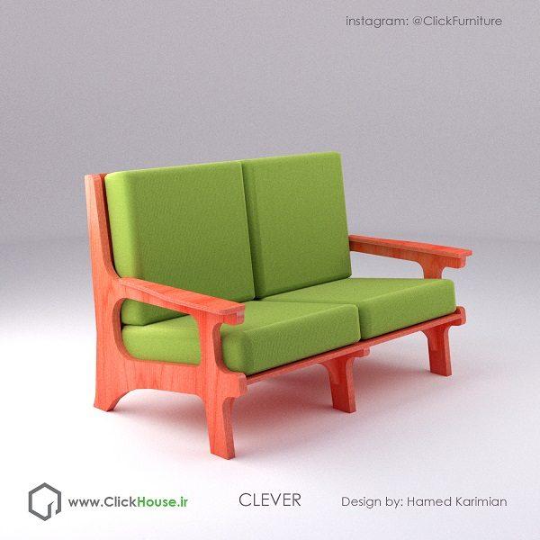 مبل پازلی کمجا مدرن flatpack sofa