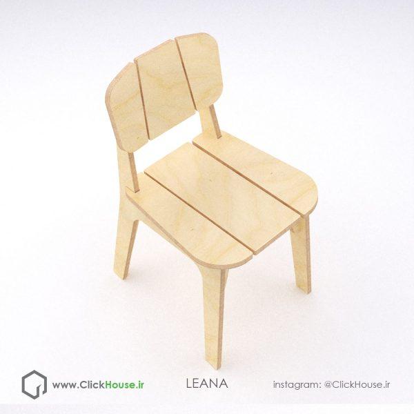صندلی پازلی چوبی لیانا puzzle chair made of plywood